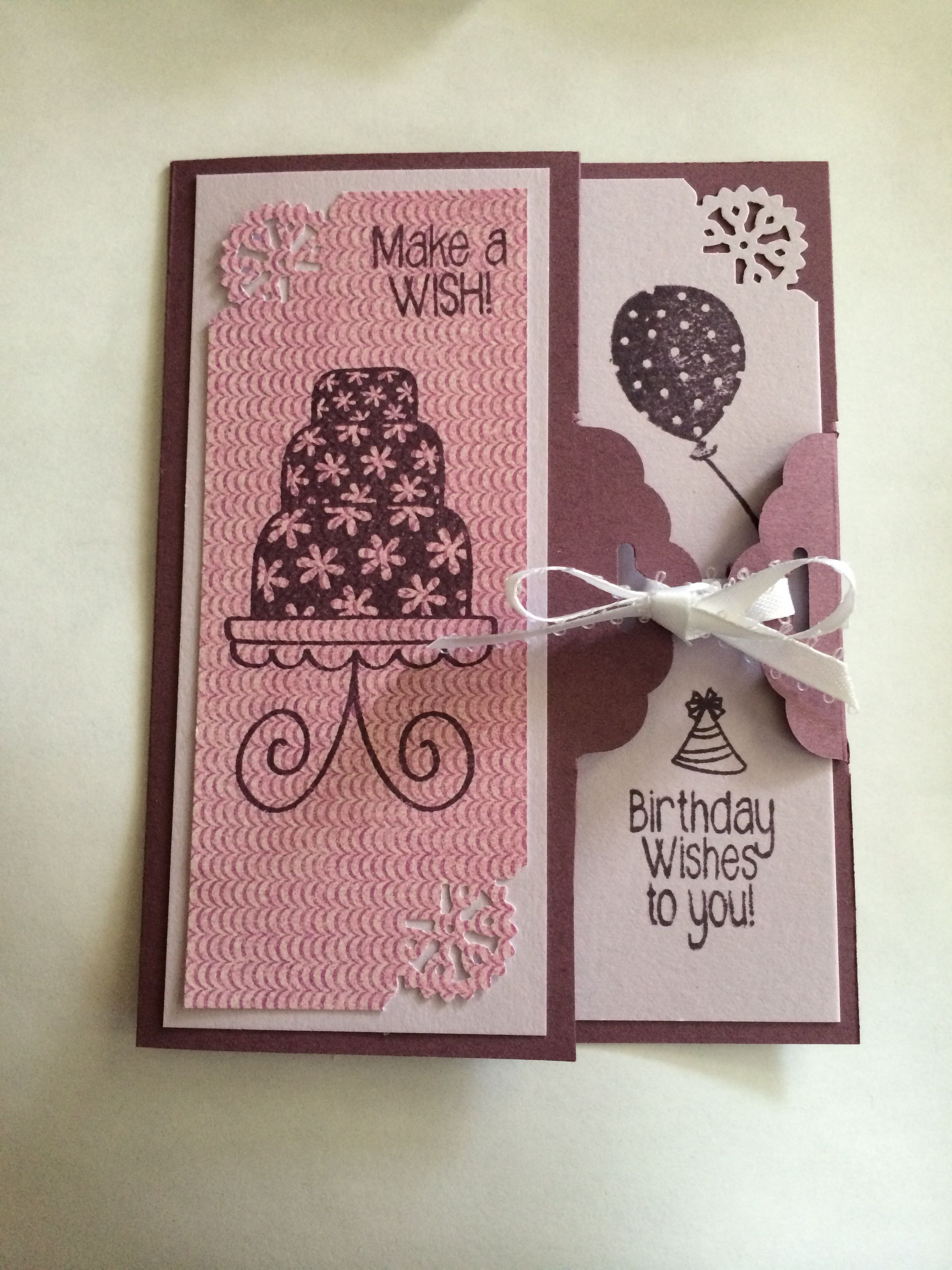 Stampin up scallop tag topper and stamps of life stamps birthday