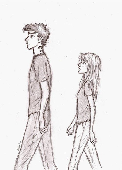 Tobias and Tris. This is pretty close to how I pictured them in the book.