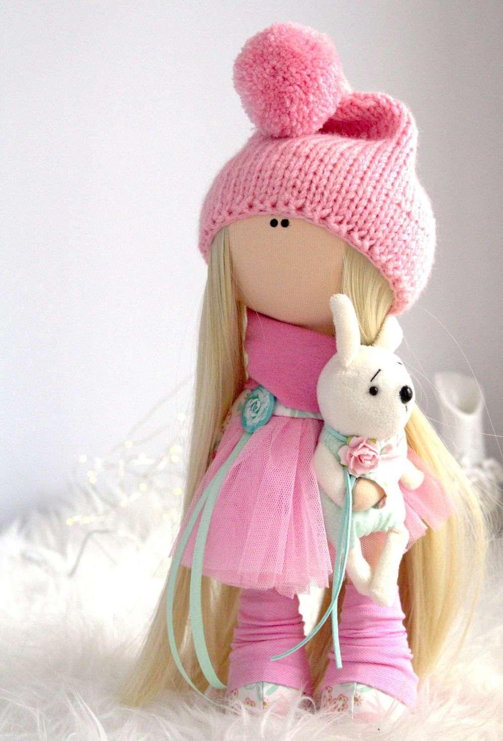 Выкройка интерьерной куклы и мягких игрушек, чтобы сшить