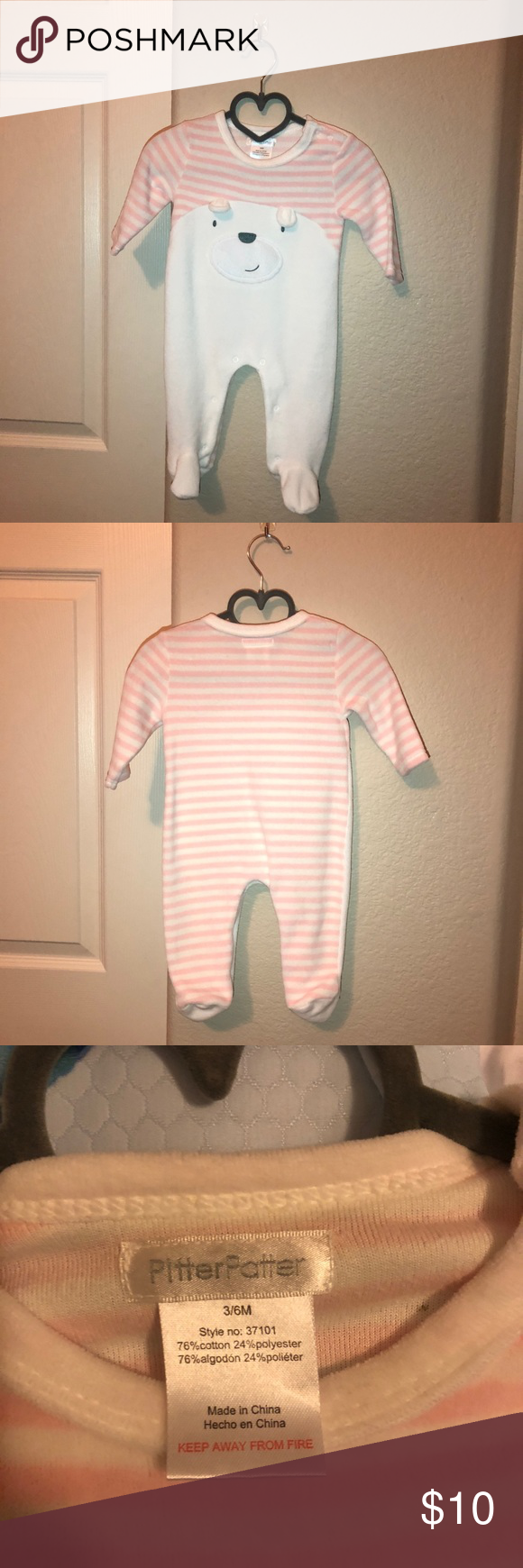 Baby Pajama Onsie - NWOT - size 3-6 months - button ...