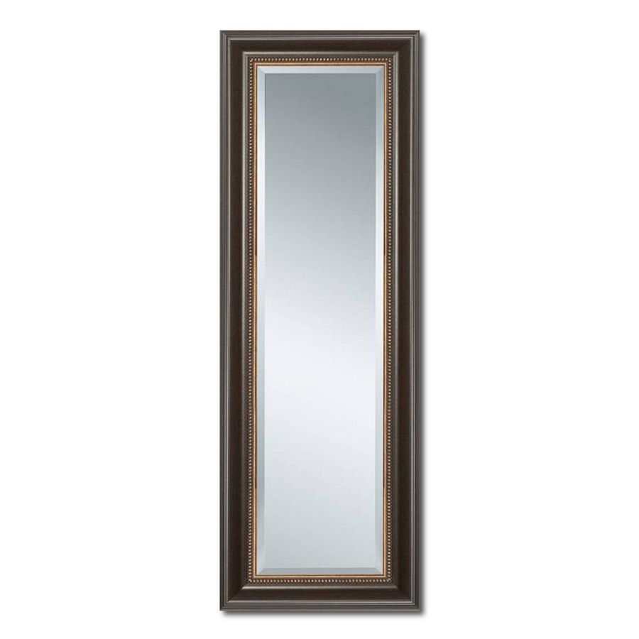 Style Selections 27-in x 68-in Cherry Beveled Rectangle Framed ...