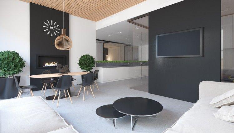 d coration bureau scandinave avec chaises eames et suspension en bois suspension pinterest. Black Bedroom Furniture Sets. Home Design Ideas