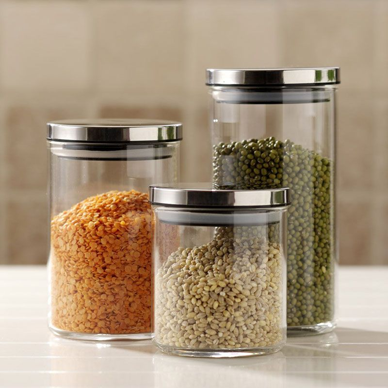 Decorative Kitchen Canisters And Jars  Kitchen Canisters Jar And Prepossessing Glass Kitchen Containers Review