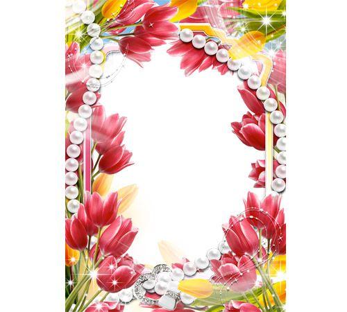 Рамка для фотошопа для цветы
