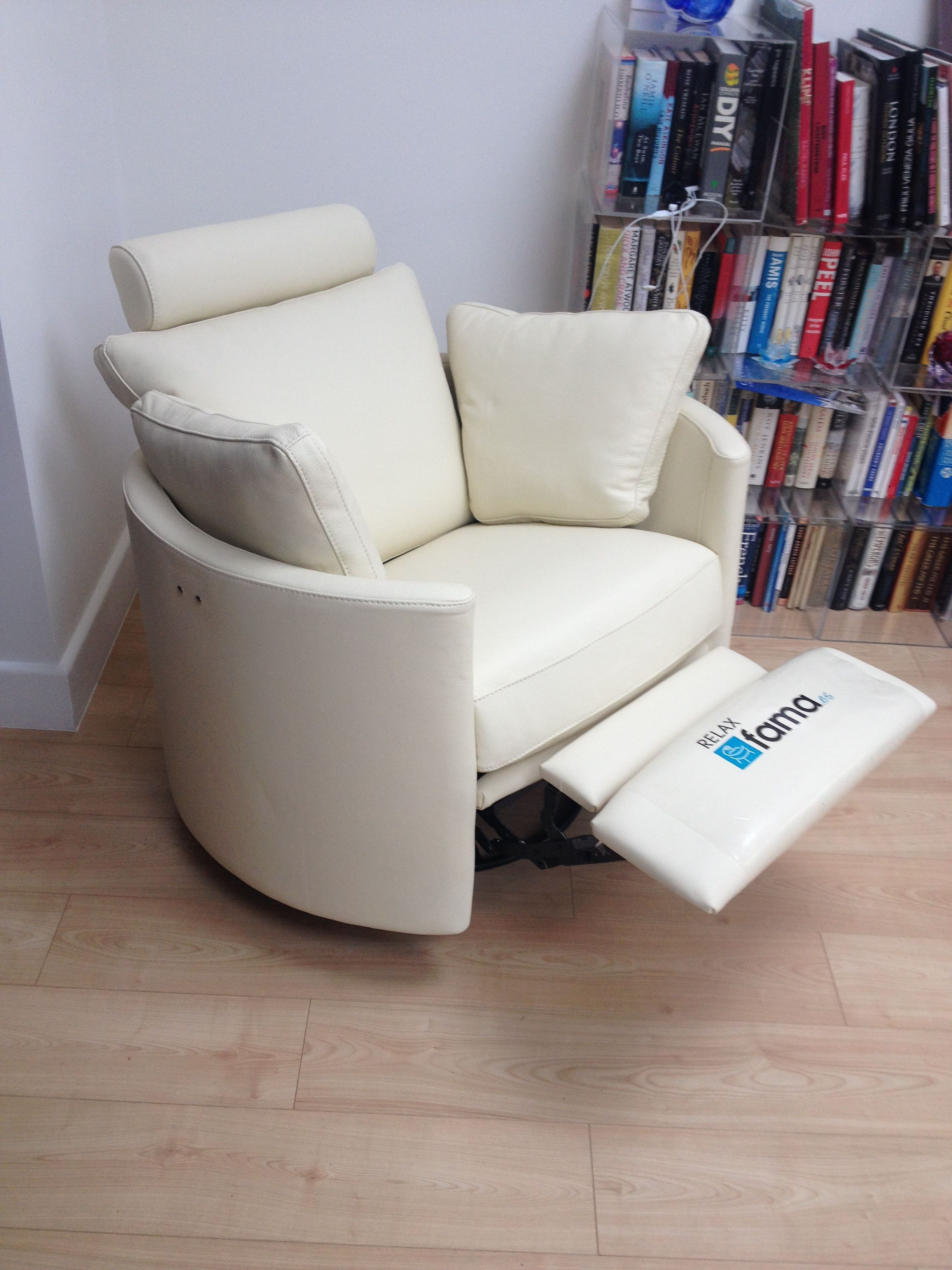 White Leather Cool And Stylish Designer Chair That Just Happens To