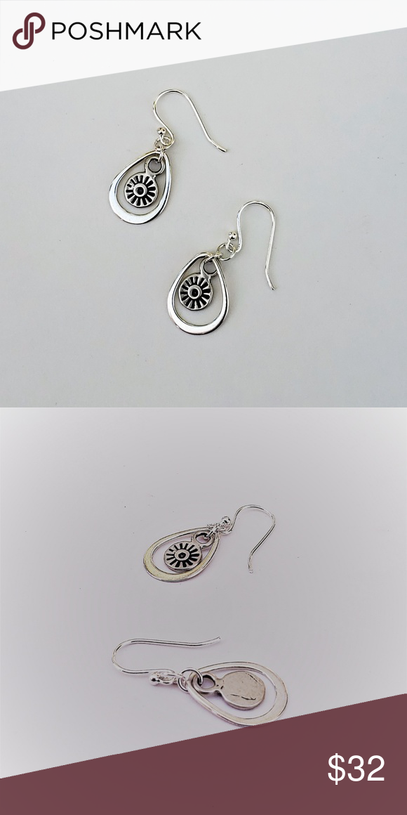 "11//16/"" BALI HANDMADE ARTISAN 925 STERLING SILVER earrings"