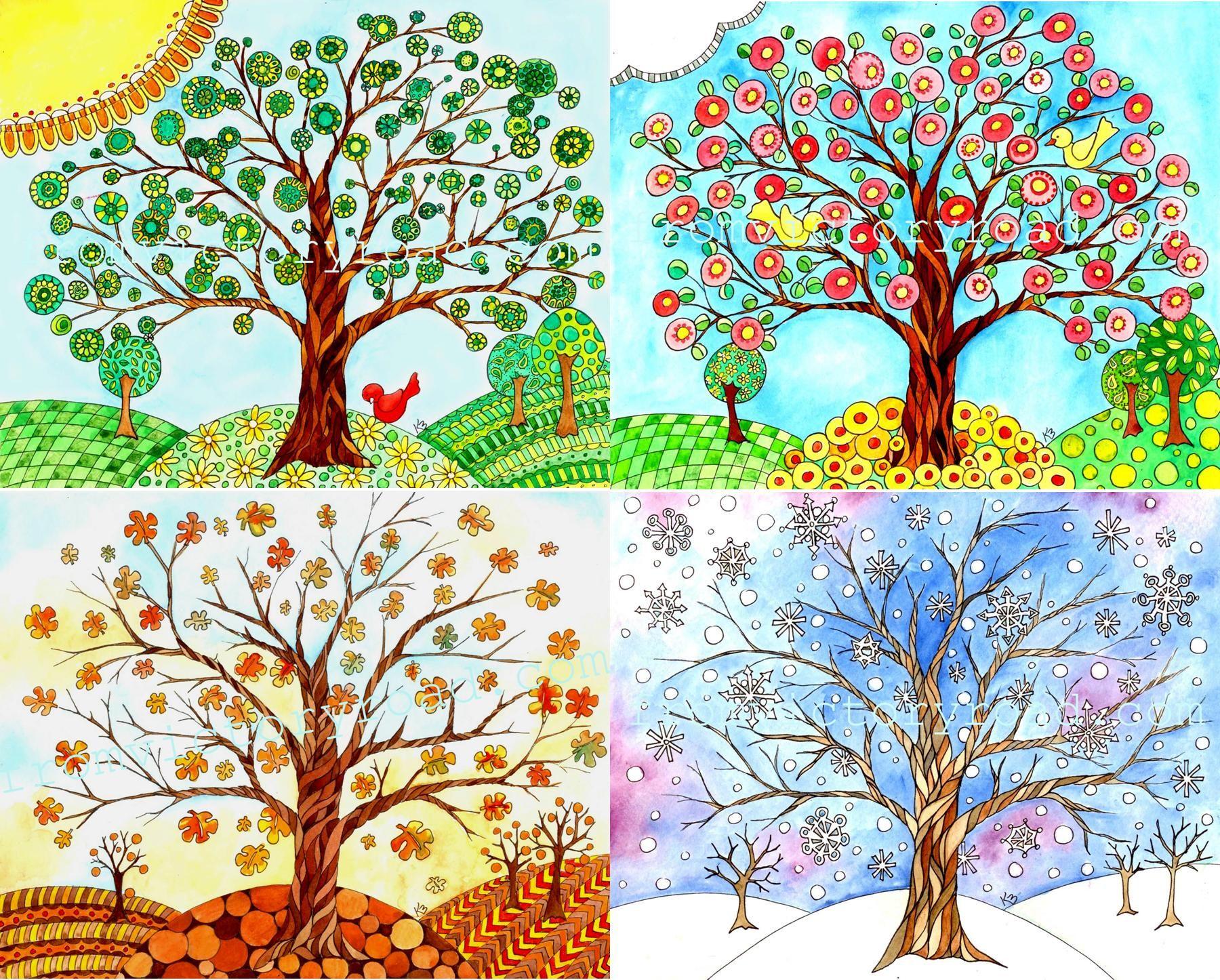 Four Seasons Trees Google Search Seasons Art