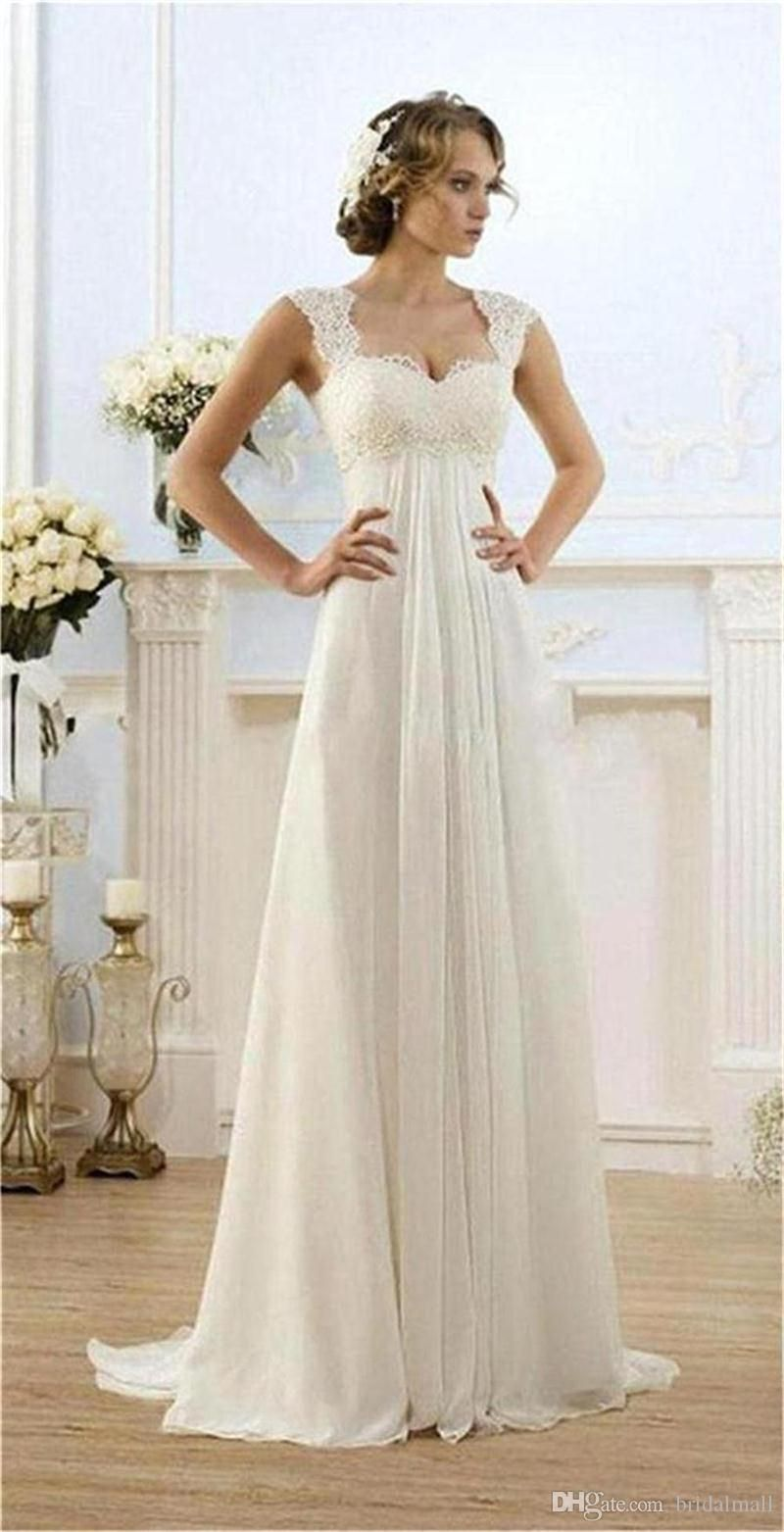 Lace and Chiffon Wedding Dress  Country Dresses for Weddings