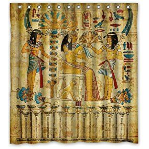 Egyptian Shower Curtain Ai In 2020 Personalized Shower Curtain