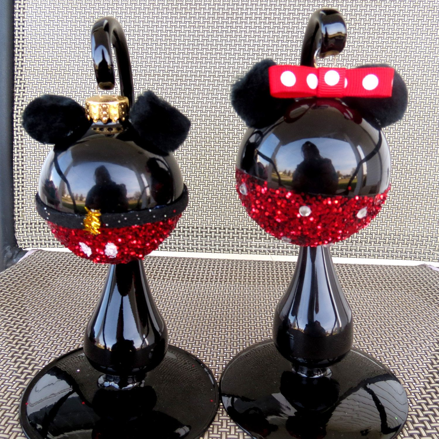 Minnie and Mickey Mouse Christmas Ornament, Disney Ornament | mouse ...