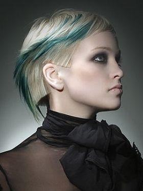 Blond & teal