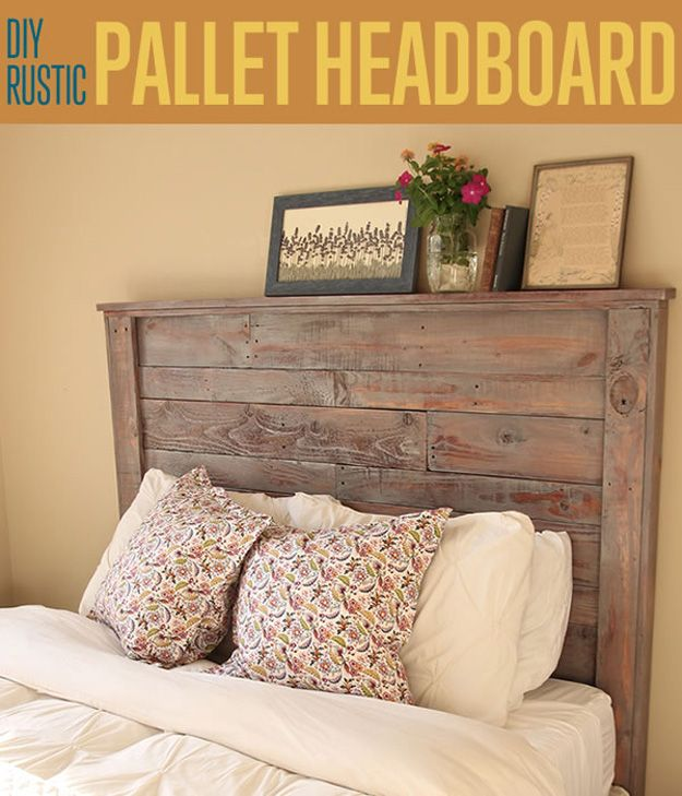 How To Make A Rustic Pallet Headboard Pallet Headboard Diy How