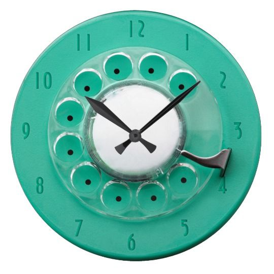 Vintage Rotary Dial Novelty Wall Clock Zazzle Com