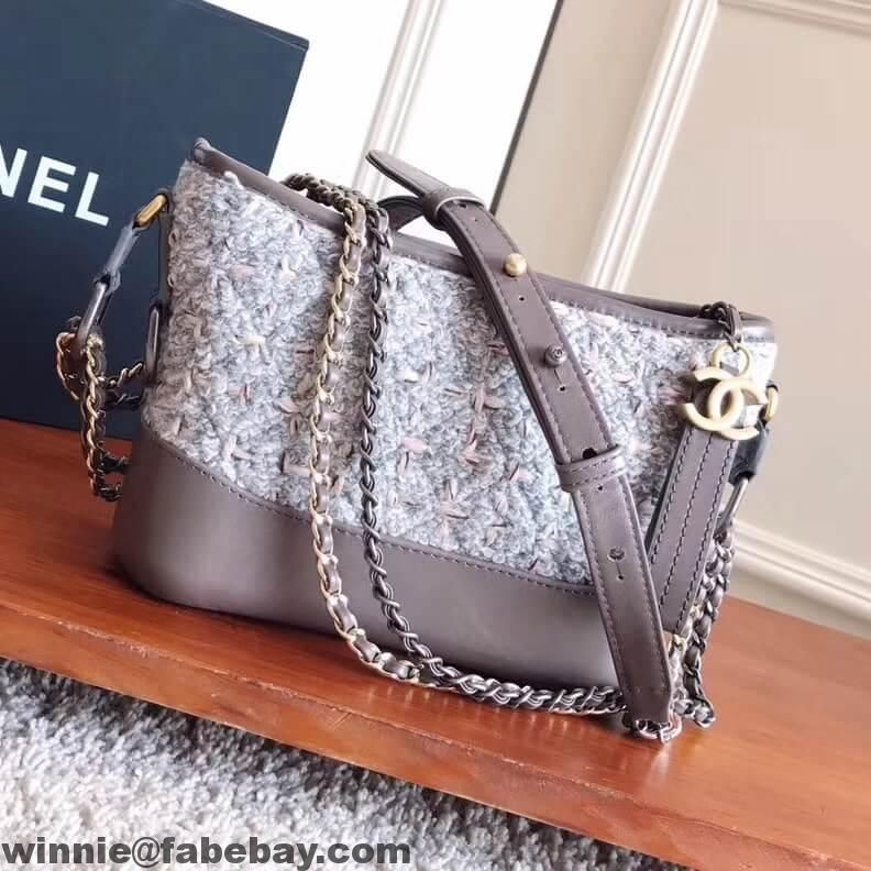 42220310c20e Chanel Tweed Calfskin Gabrielle Small Hobo Bag A91810 2017
