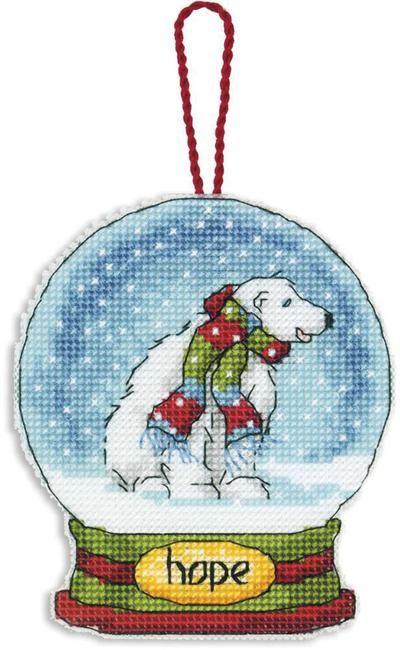 Dimensions Christmas Hope Snow Globe Cross Stitch Kit D70-08906