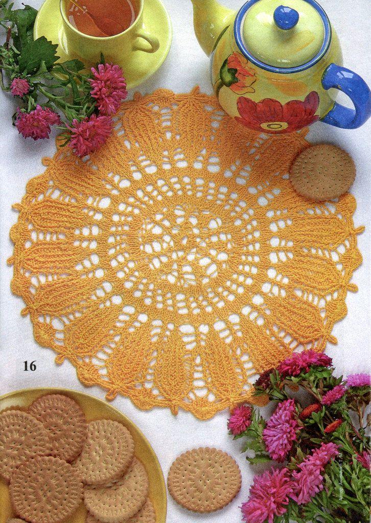 Napperons au tricot crochet napperons nappes - Napperon crochet grille gratuite ...
