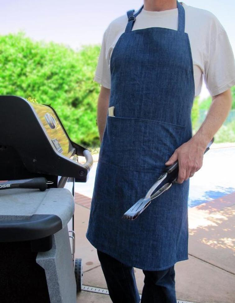 Mens Apron Pattern - Grilling BBQ Apron | Geschenk