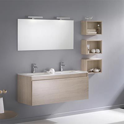 Meubles salle de bains cassis D-Motion L120 cm Espace Aubade