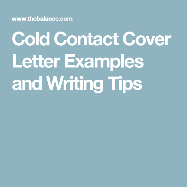 cold contact cover letters