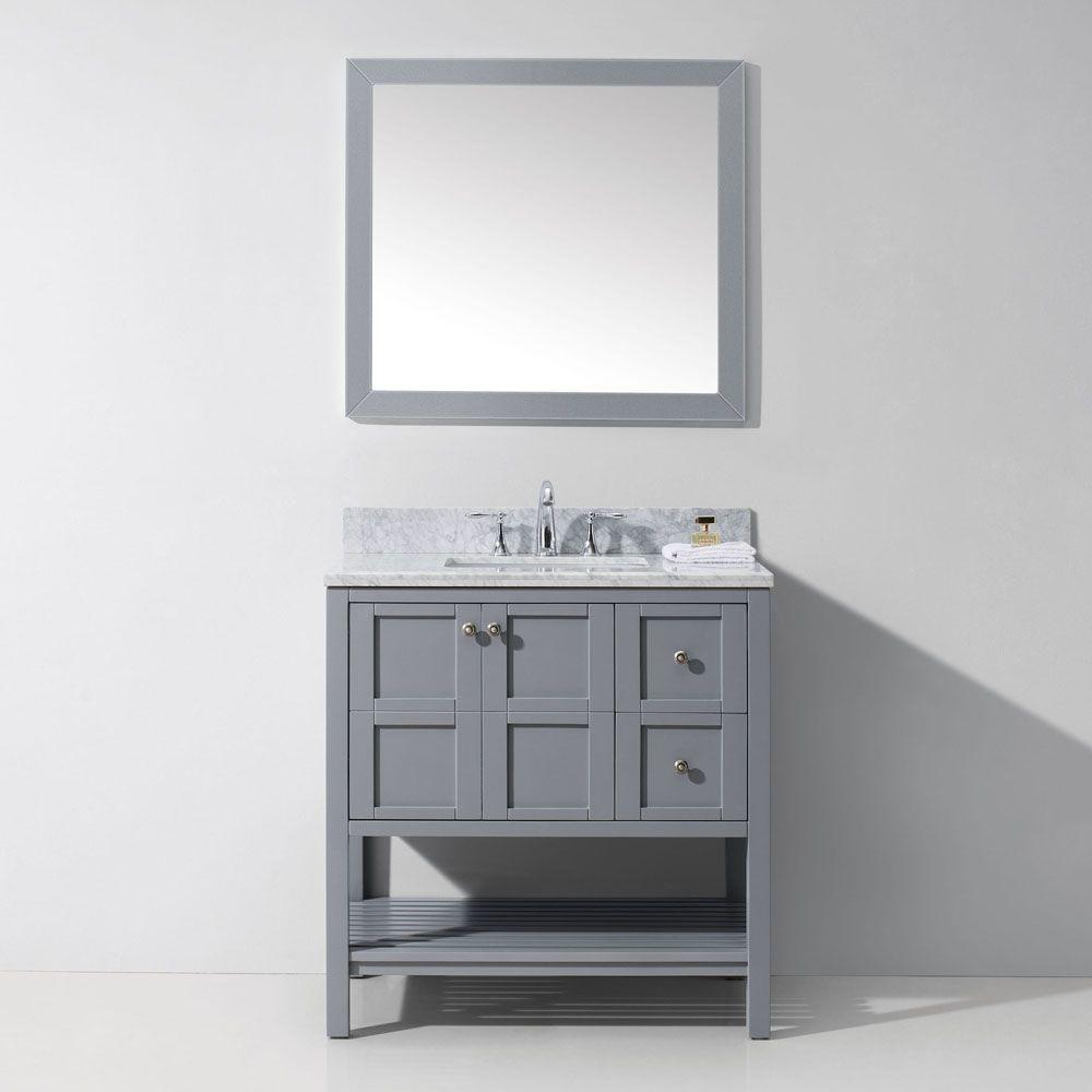 Winterfell 36″ Single Bathroom Vanity Cabinet Set   Ranch bathroom ...