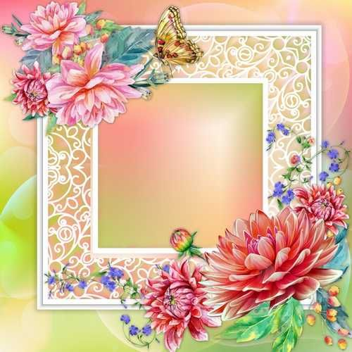 Free Card frame download - Card with roses (free frame psd) | FLORI ...