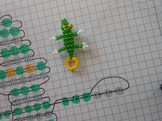 [TUTO] [DIY] Crocodile en perles de rocaille #loisirscréatifs