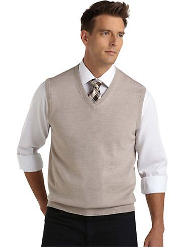Fall Sweaters and Outerwear Pronto Uomo Oatmeal V Neck