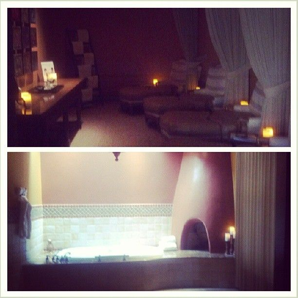Relaxing at our Red Door Spa at the Wigwam