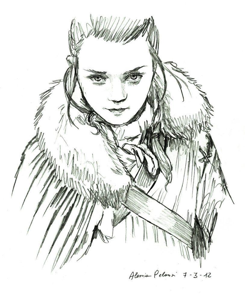 Arya By Alessiapelonzi On Deviantart Arya Stark Arya Art