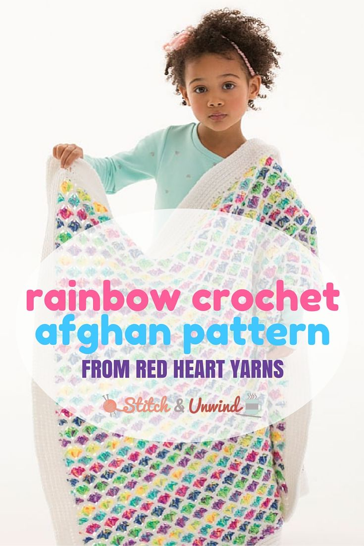 Free Pattern Friday: Rainbow Afghan Pattern from Red Heart! | Manta ...