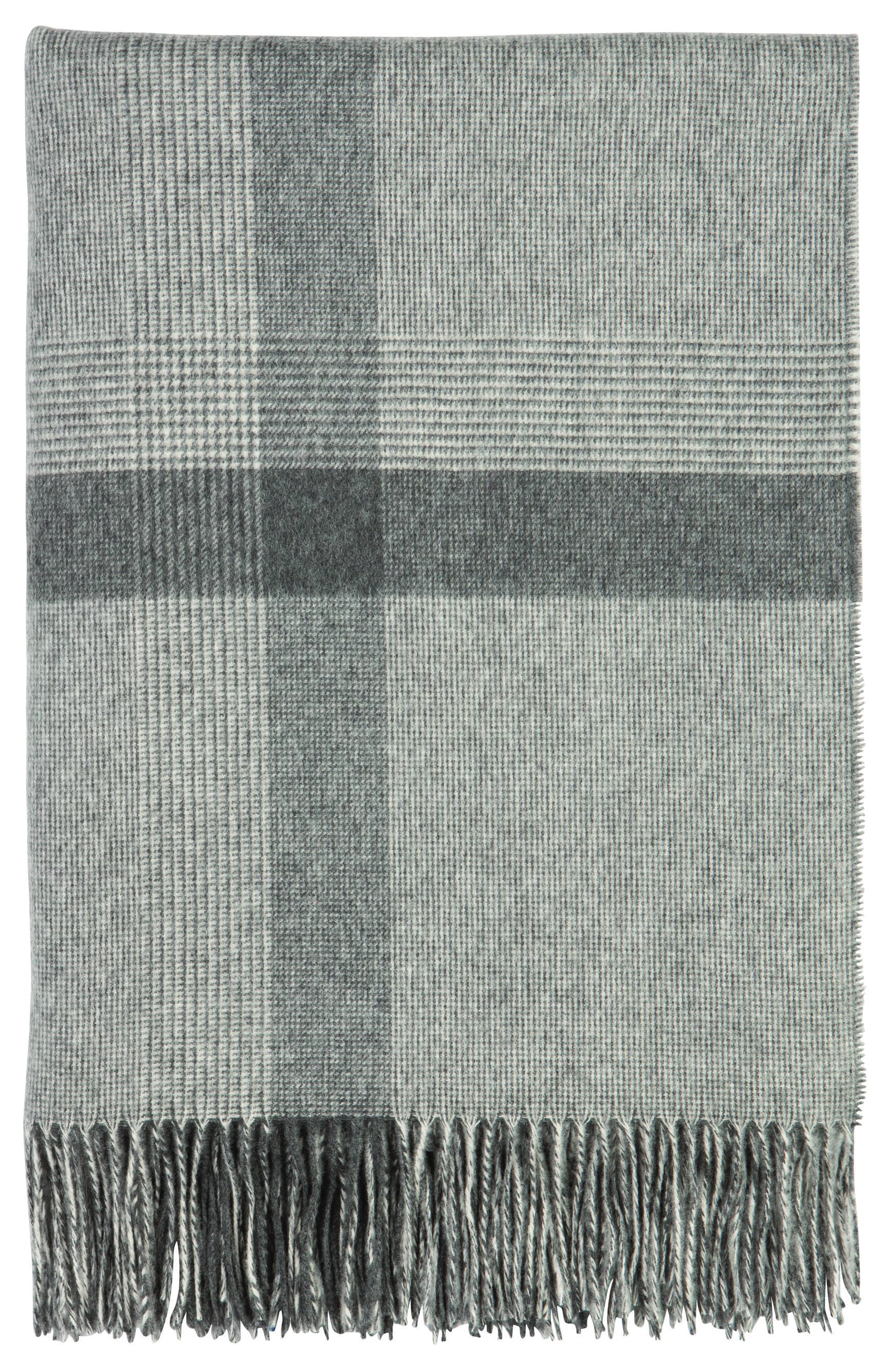Johnstons Of Elgin Simple Check Cashmere Throw Can