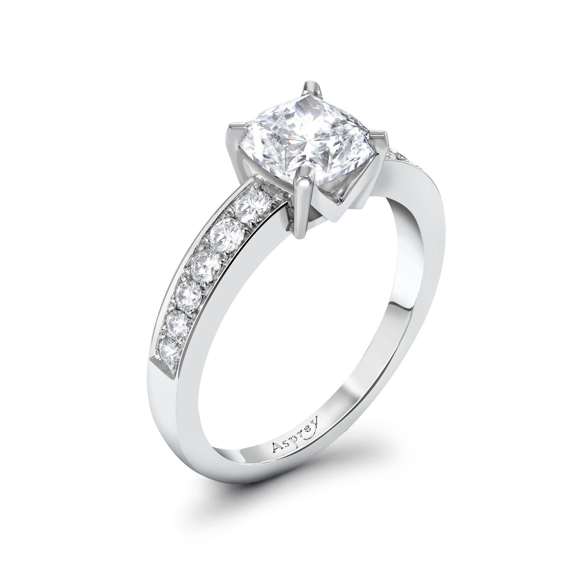 Cushion Cut Diamond Engagement Ring Asprey