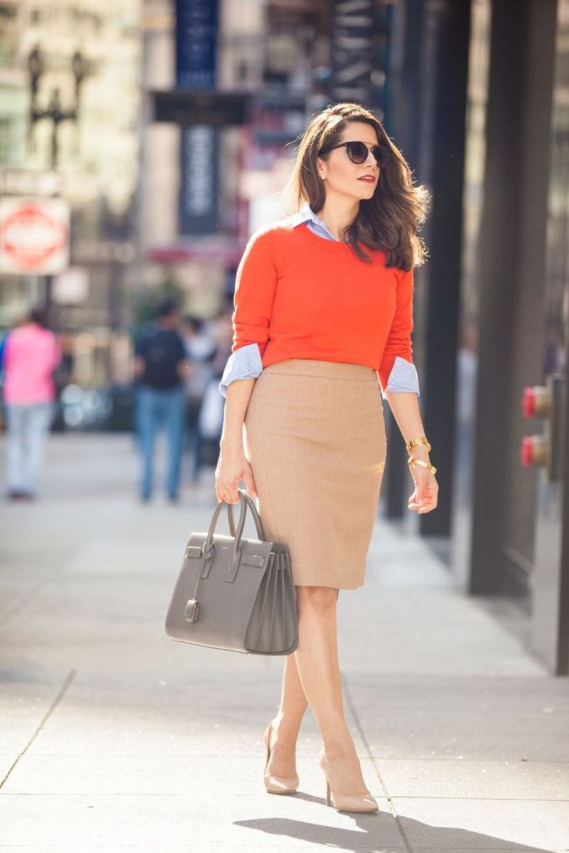 15 Bold Fall Work Outfits In Rich Colors