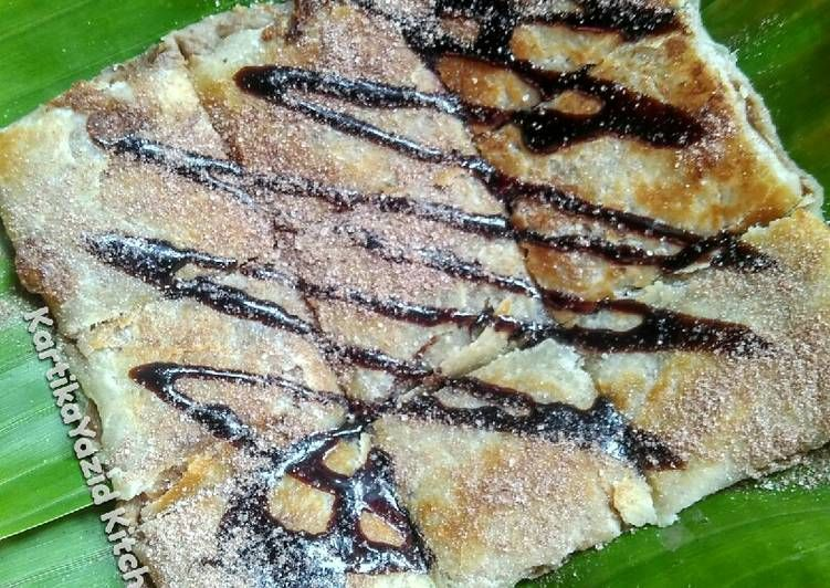 Resep Thai Banana Roti Martabak Telur Manis Ala Thailand Oleh Kartika Yazid Resep Resep Rotis Telur