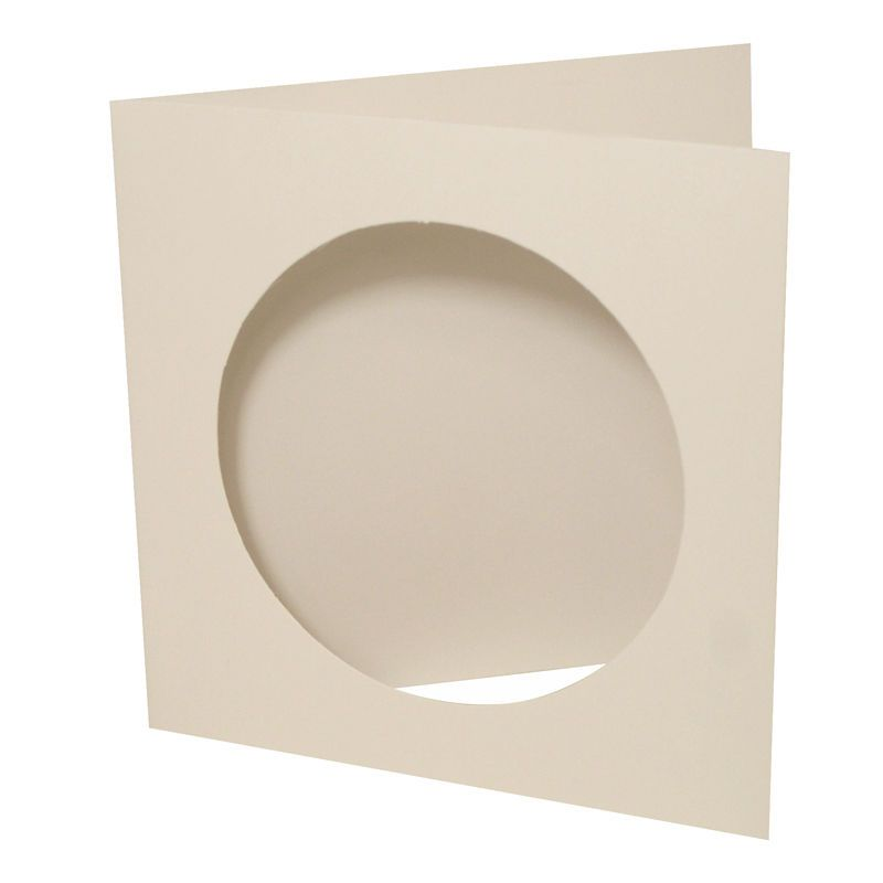 Circle Aperture Cards And Envelopes 6 X 6 Inches 10 Pack Hobbies