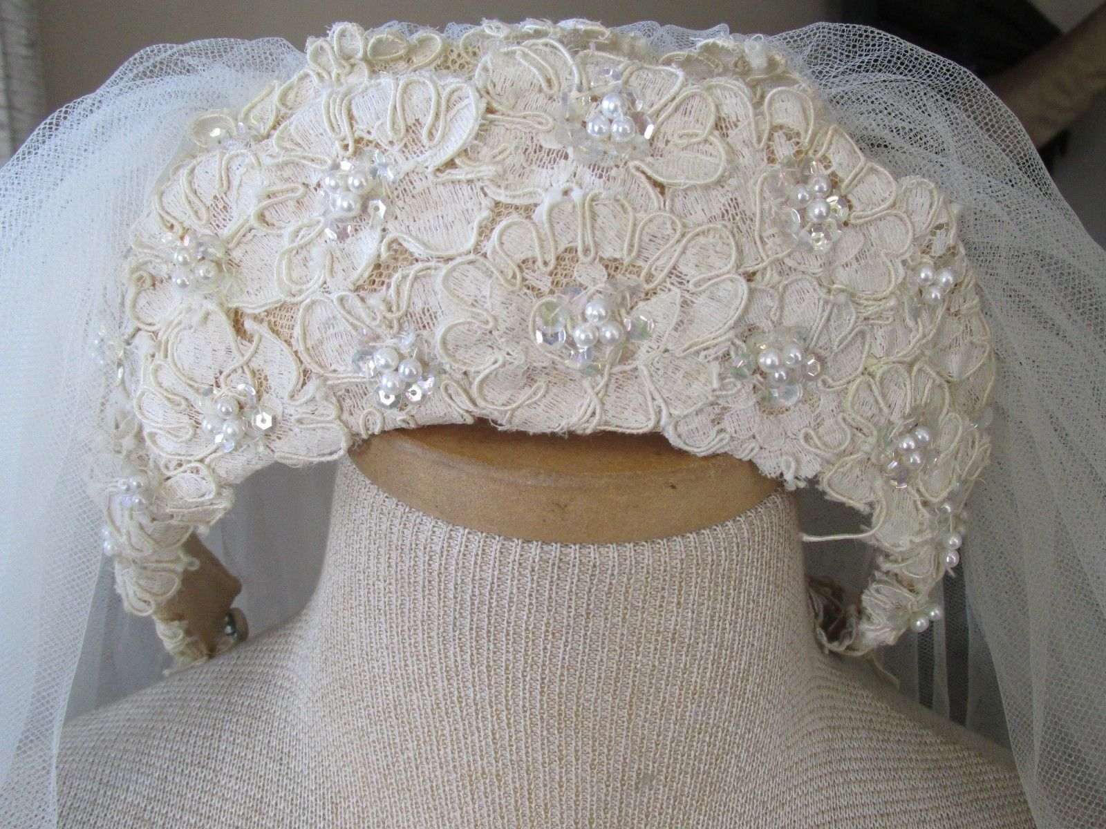 Priscilla of boston wedding dresses  Ethereal Vintage Priscilla of Boston us Cream Faux Pearl Tiara