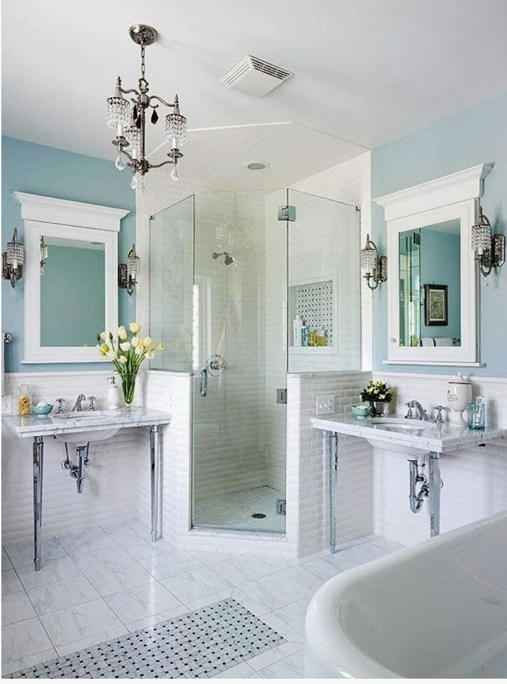 Clawfoot tub and separate shower layout google search for Dream bathrooms