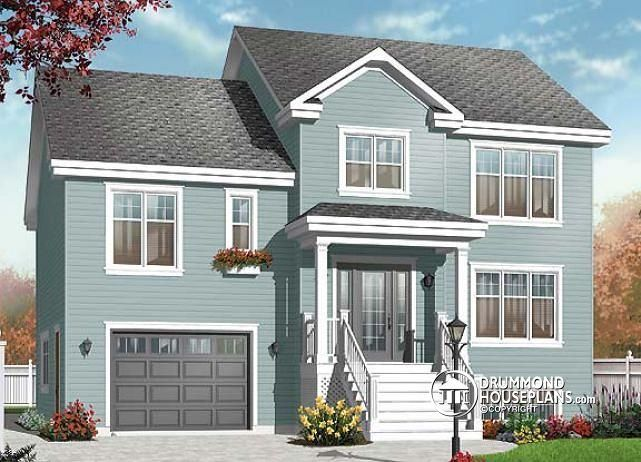 W3459 - Transitional style split level house with 2 large ...