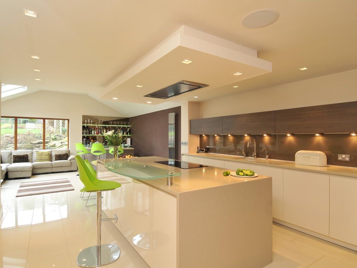 Diane Berry Kitchens - like the cream gloss cabinets and floor tiles ...