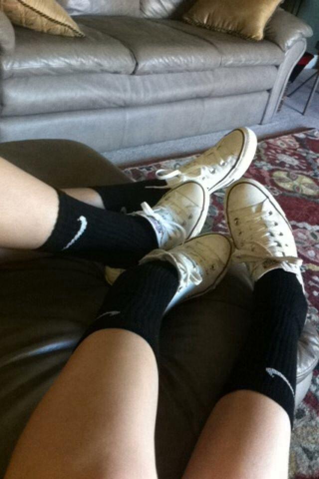 Nike socks with white converse ❤️