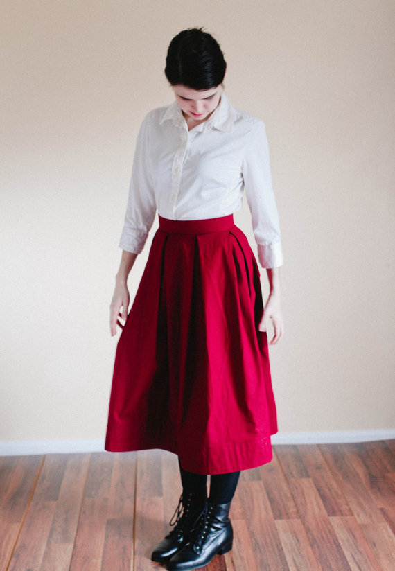 d7b137bca Plain Skirt - Cotton Made to Measure Custom Skirt - made to order ...