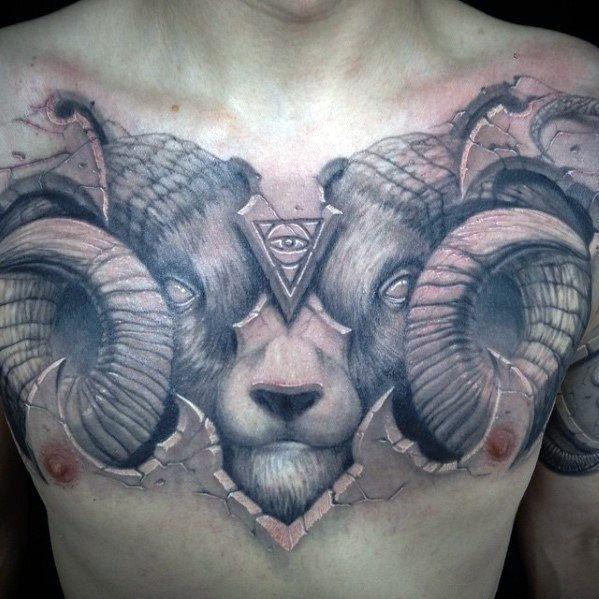 Photo of 50 conceptions impressionnantes de tatouage de poitrine 3D – Beste Tattoo Ideen – #Awesome #Beste #Chest …