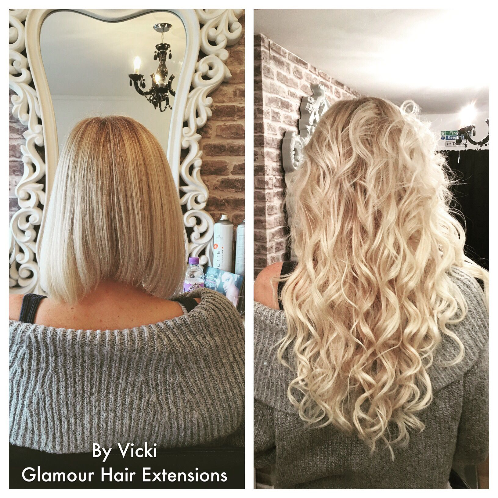 Hairextensions 18blonde before and after microbead remy indian hairextensions 18blonde before and after microbead remy indian hair glamour hair extension centre pmusecretfo Gallery