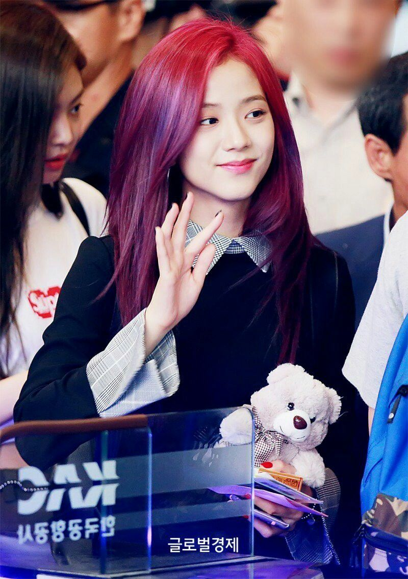 Blackpink Jisoo Kim Jisoo Purple Hair Purple Hair Red Purple Hair Hair