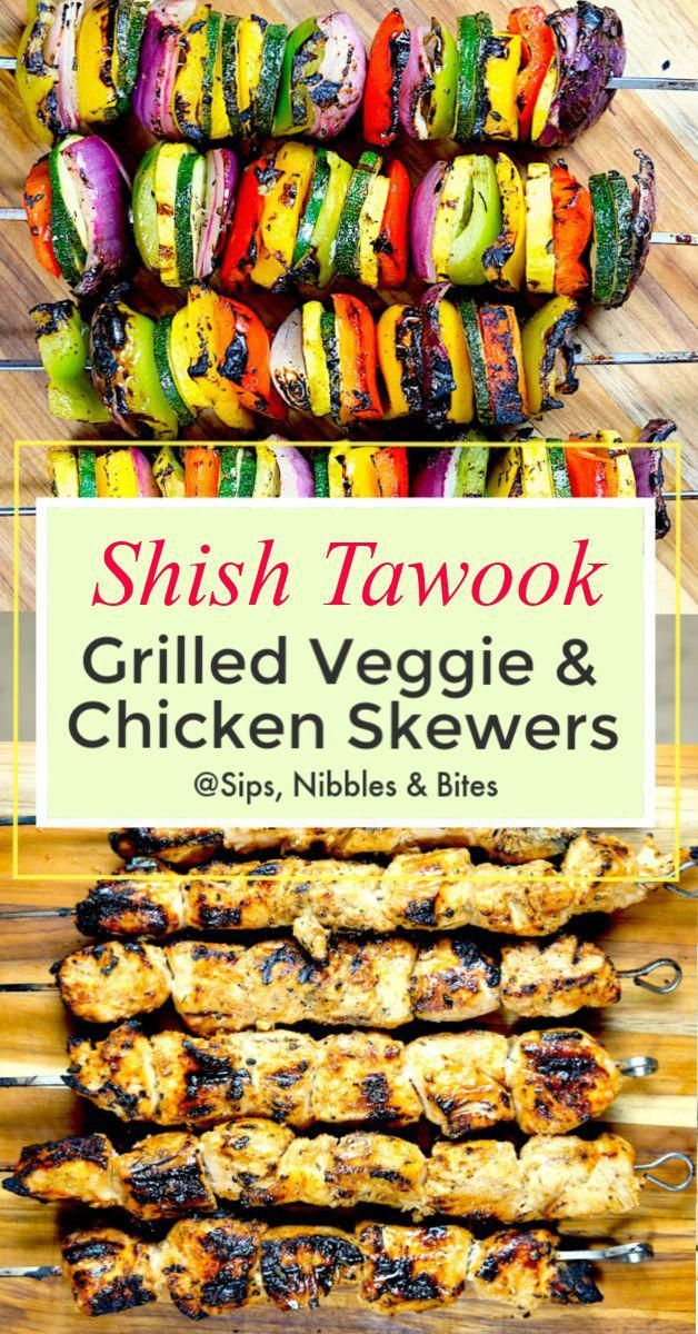 The name of the dish 'Shish Kebob' comes from two Persian words, 'Shish' meaning skewered and 'Kebob' meaning grilled. Although traditionally made with lamb, a Shish Kebob can be made with beef, chicken or fish. 'Shish Tawook' is a type of Kebob. #shishkabob #shishtawook #skewered #grilled #veggieskewers #grilledveggies #grilledchicken #chickenmarinade #marinade #grilledvegetables #chicken #bbq #bbqchicken #lebanese #middleeastern #kebob #shish #persian #l