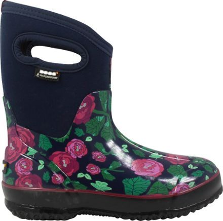 Bogs Womens Rose Dark Blue Mid Boots Garden