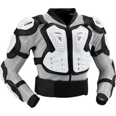 FOX TITAN SPORT JACKET WHITE SM Anatomic high impact two piece plastic chest plate. Removable  sc 1 st  Pinterest & FOX TITAN SPORT JACKET WHITE SM Anatomic high impact two piece ...