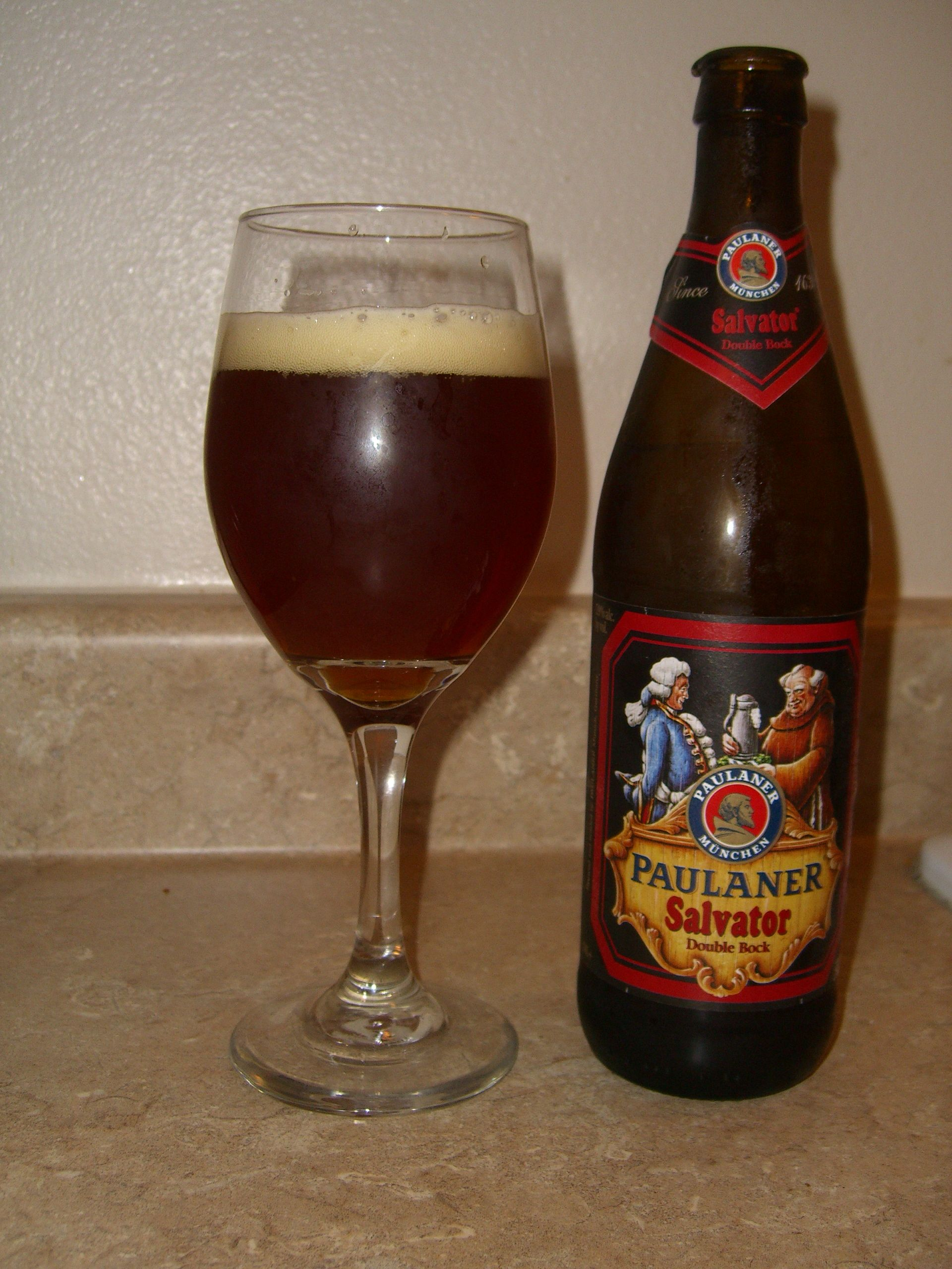 20 bottles of Paulaner Salvator 0.5l - strong (double-) bock beer with 7.9%  alc./vol. from Bavaria