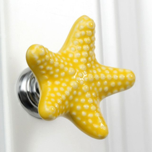 Furniture Handles Starfish Cabinet Knobs And Handles Ceramic Door Knob  Cupboard Drawer Kitchen Pull Handle Home ...