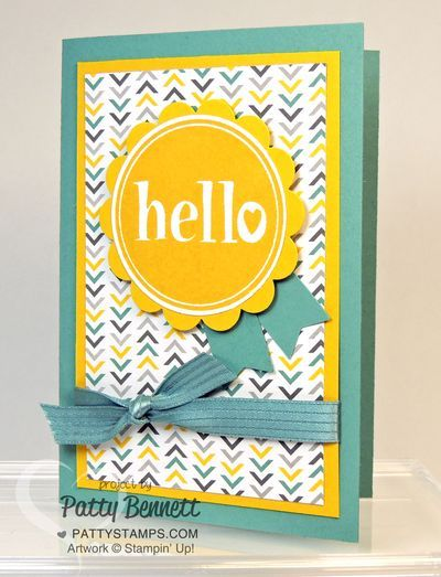Quick And Easy Hello Notecard Patty S Stamping Spot Stamped Cards Hello Cards Cards